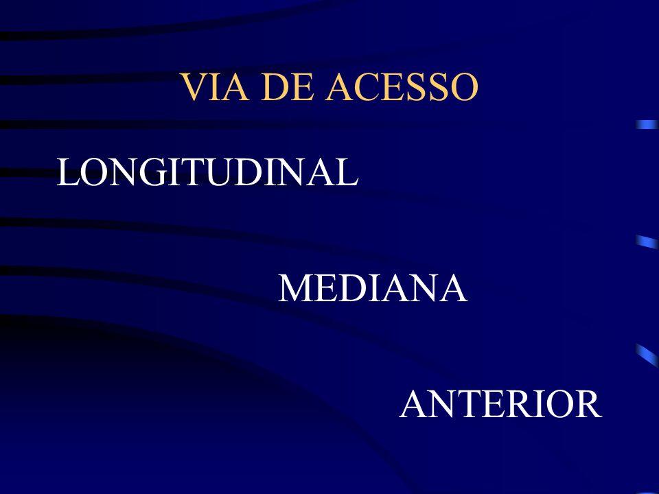 VIA DE ACESSO LONGITUDINAL MEDIANA ANTERIOR