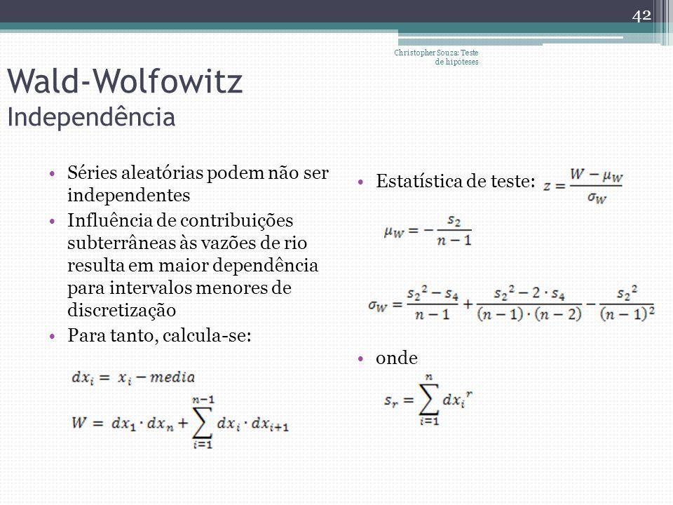 Wald-Wolfowitz Independência