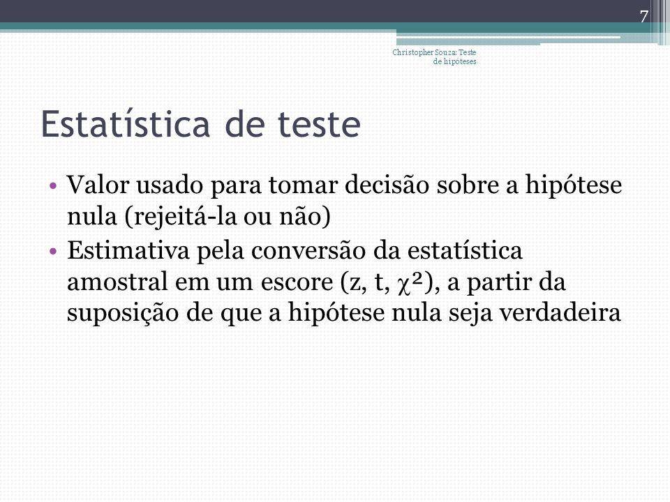 Christopher Souza: Teste de hipóteses