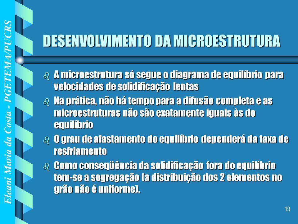 DESENVOLVIMENTO DA MICROESTRUTURA