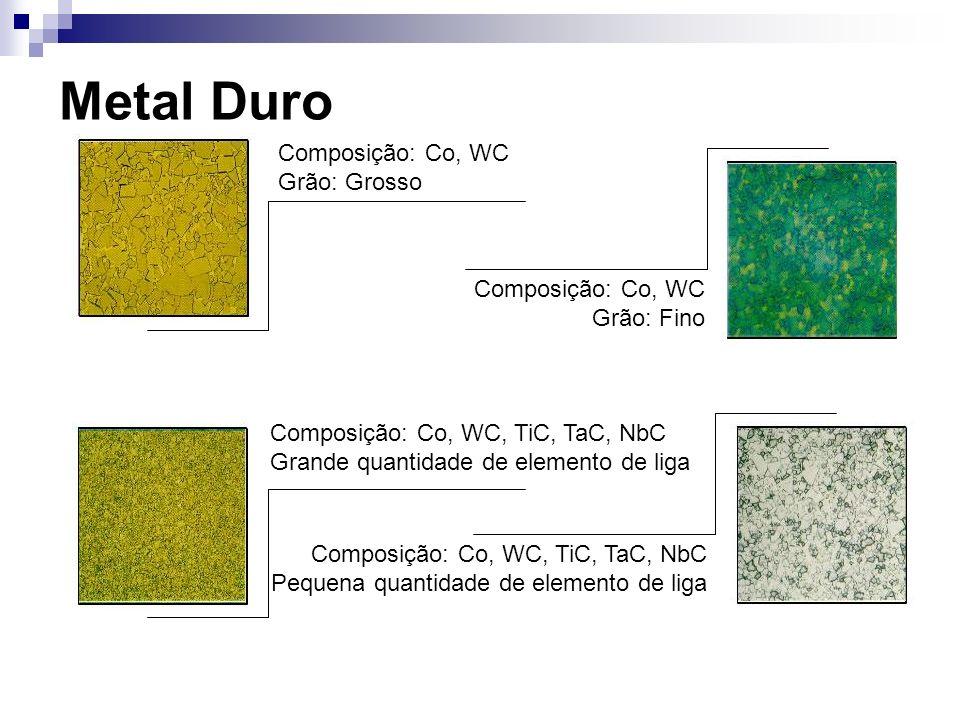 Metal Duro Composição: Co, WC Grão: Grosso Composição: Co, WC