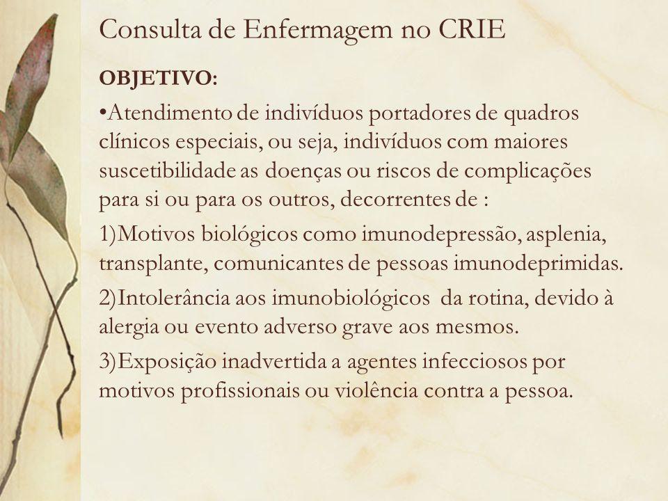 Consulta de Enfermagem no CRIE