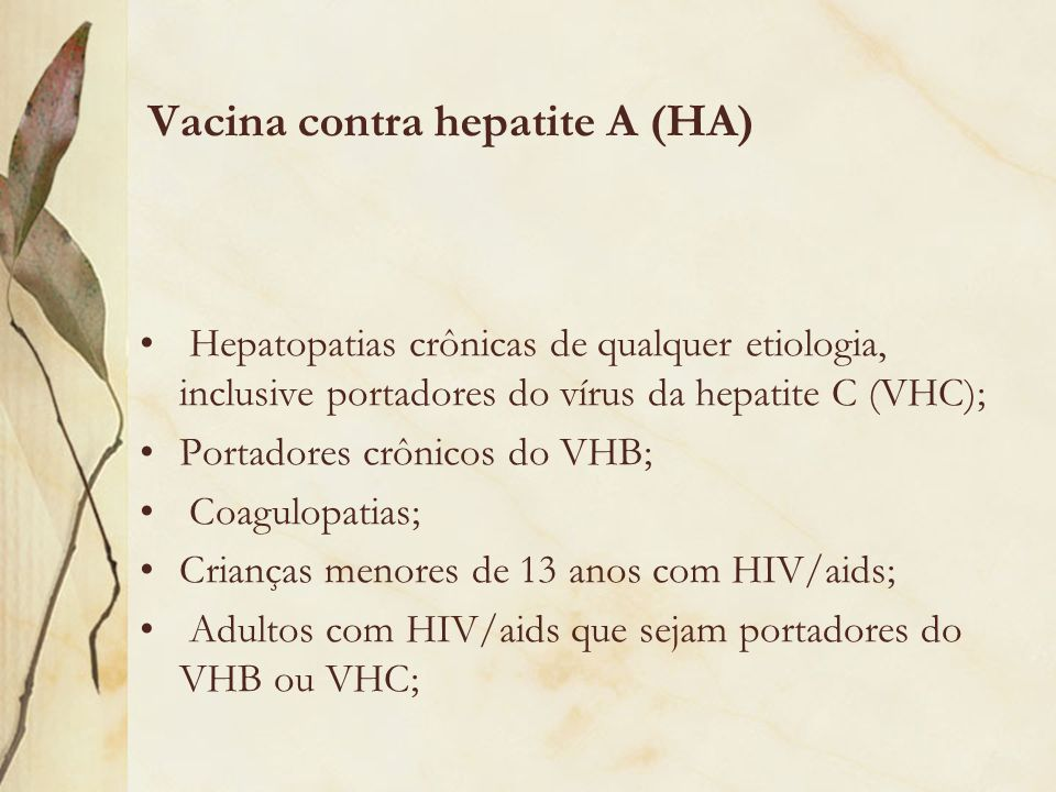 Vacina contra hepatite A (HA)