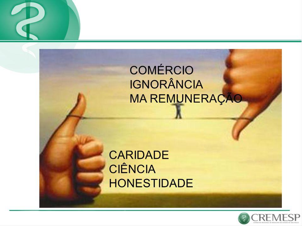COMÉRCIO IGNORÂNCIA MA REMUNERAÇÃO CARIDADE CIÊNCIA HONESTIDADE