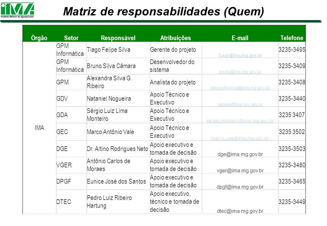 Matriz de responsabilidades (Quem)