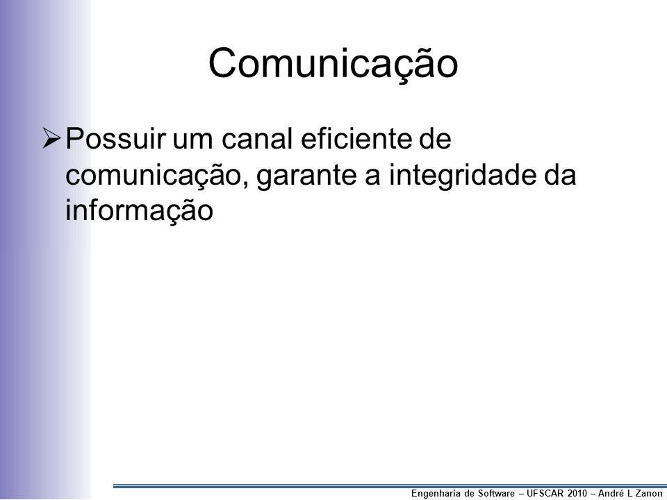 Comunicação Possuir um canal eficiente de comunicação, garante a integridade da informação.