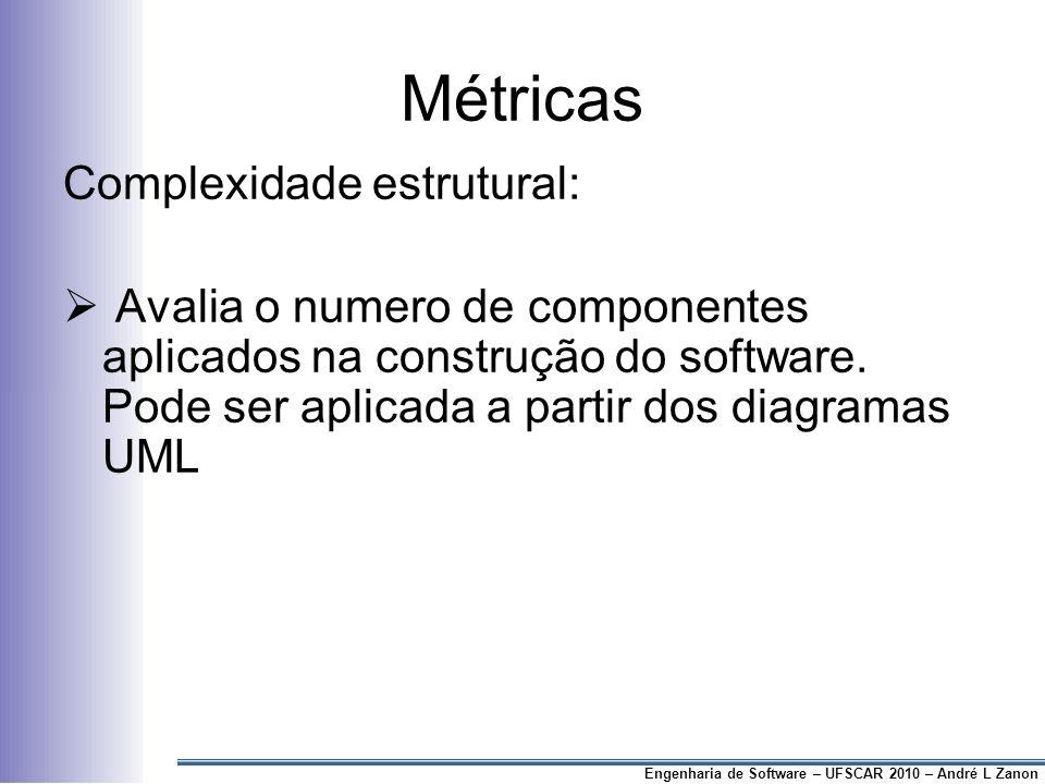 Métricas Complexidade estrutural: