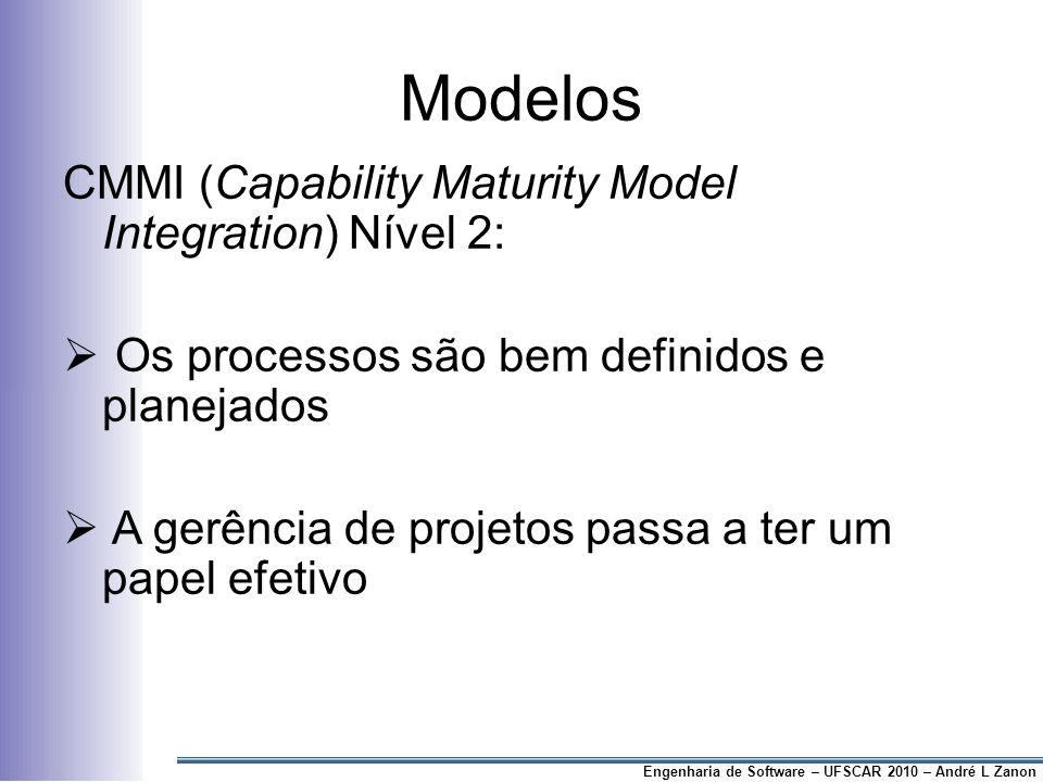 Modelos CMMI (Capability Maturity Model Integration) Nível 2: