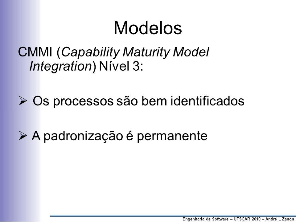 Modelos CMMI (Capability Maturity Model Integration) Nível 3: