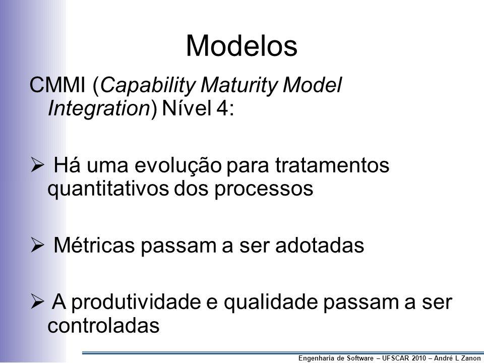 Modelos CMMI (Capability Maturity Model Integration) Nível 4: