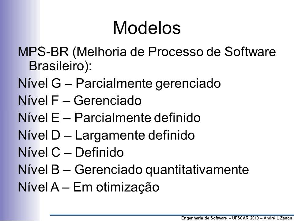 Modelos MPS-BR (Melhoria de Processo de Software Brasileiro):