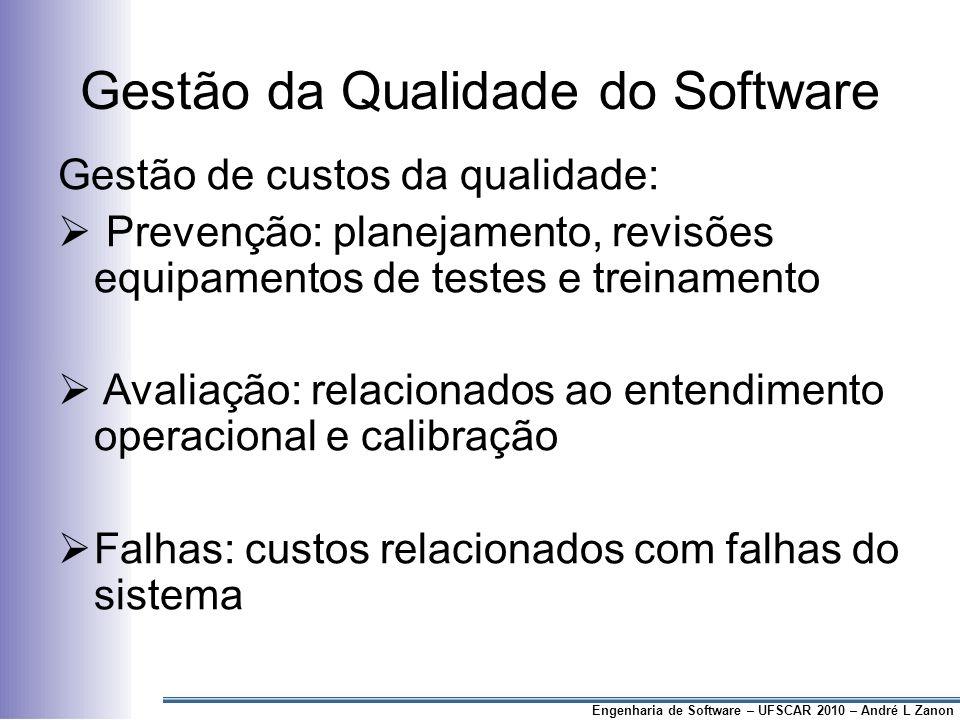 Gestão da Qualidade do Software