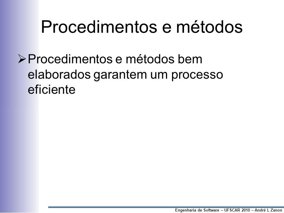 Procedimentos e métodos
