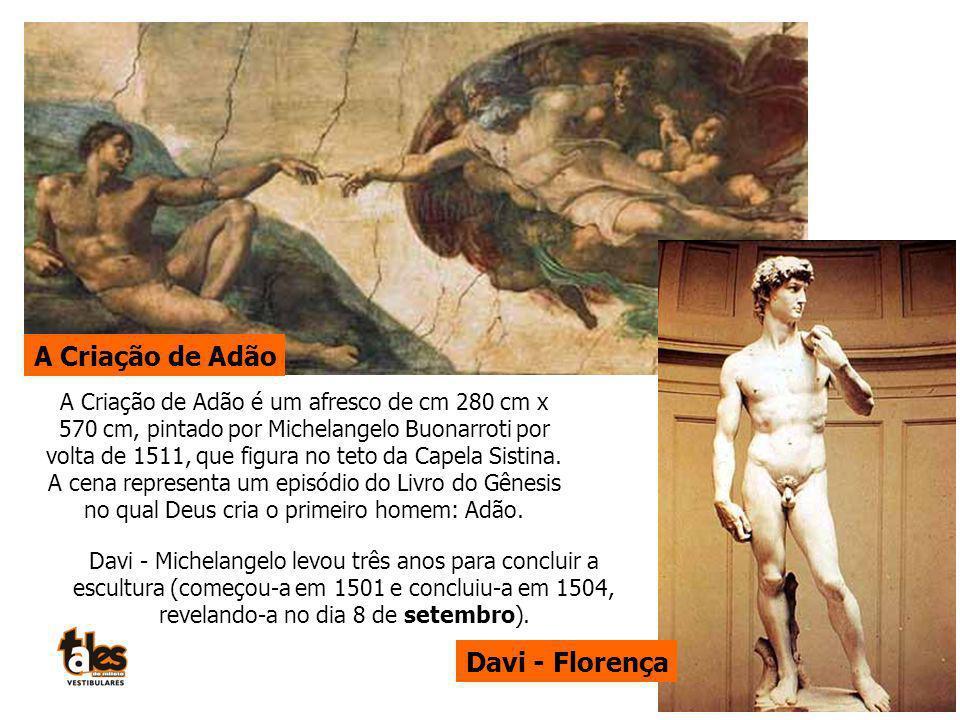 A Criação de Adão Davi - Florença