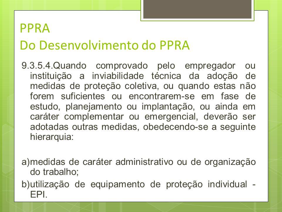 PPRA Do Desenvolvimento do PPRA