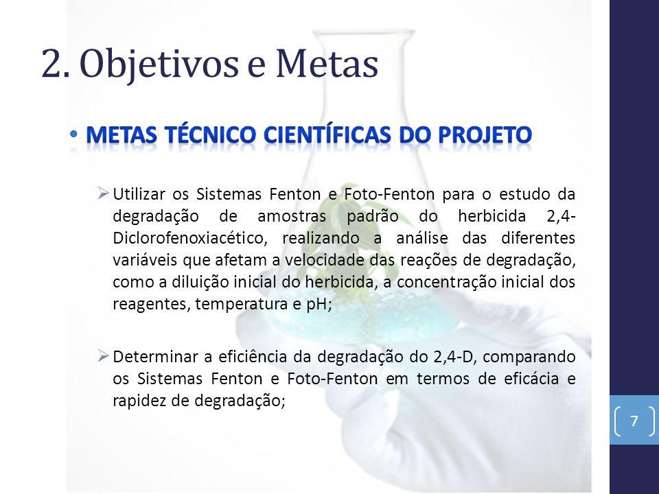 2. Objetivos e Metas METAS TÉCNICO CIENTÍFICAS DO PROJETO