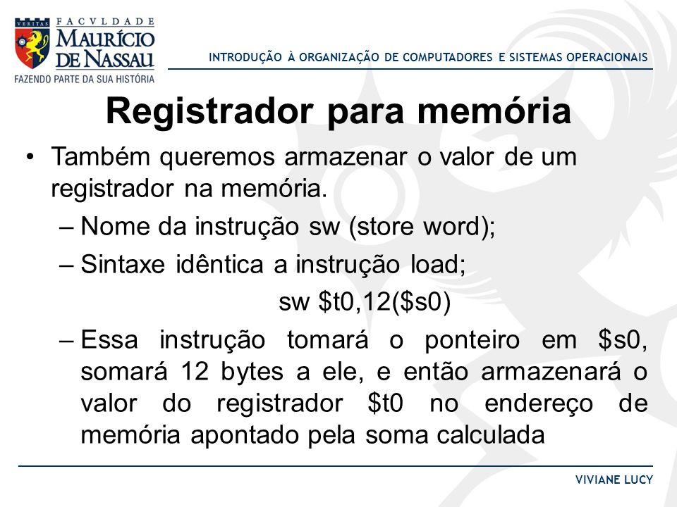 Registrador para memória