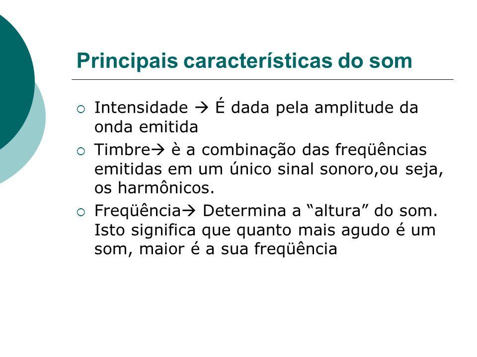 Principais características do som