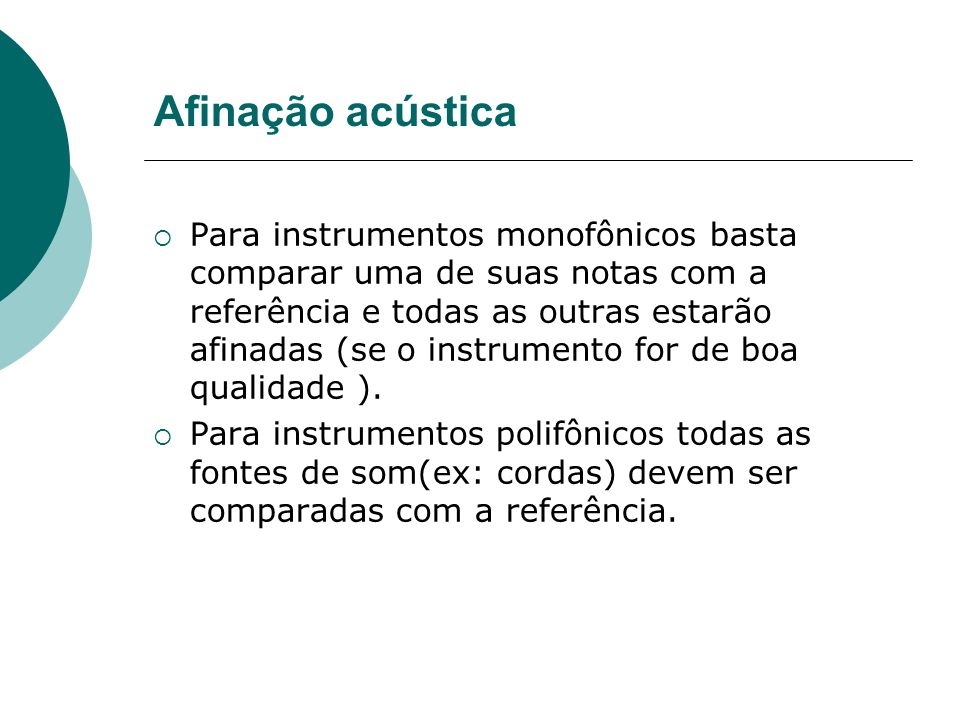 Afinação acústica
