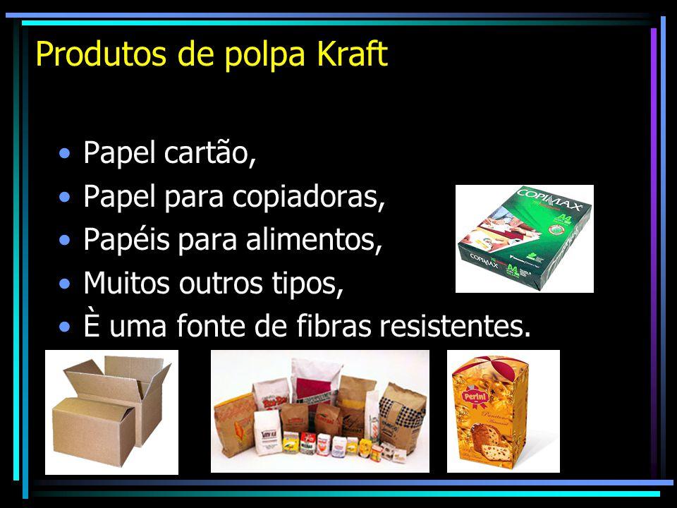 Produtos de polpa Kraft