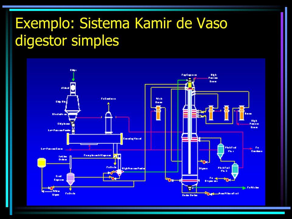 Exemplo: Sistema Kamir de Vaso digestor simples