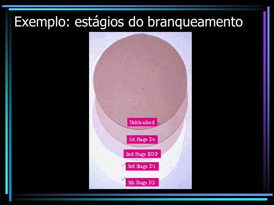Exemplo: estágios do branqueamento