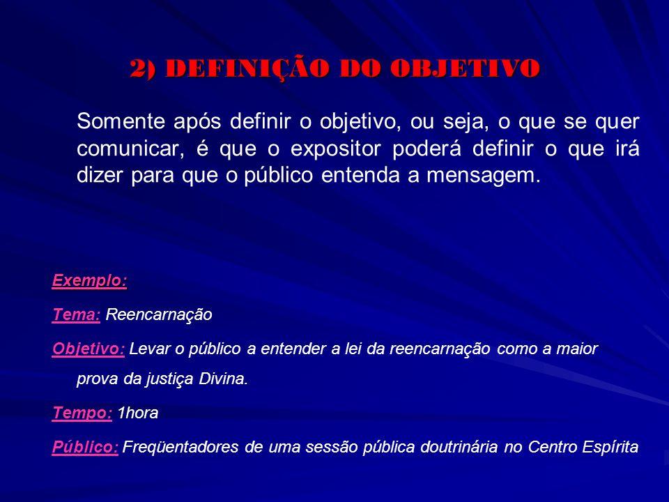 2) DEFINIÇÃO DO OBJETIVO