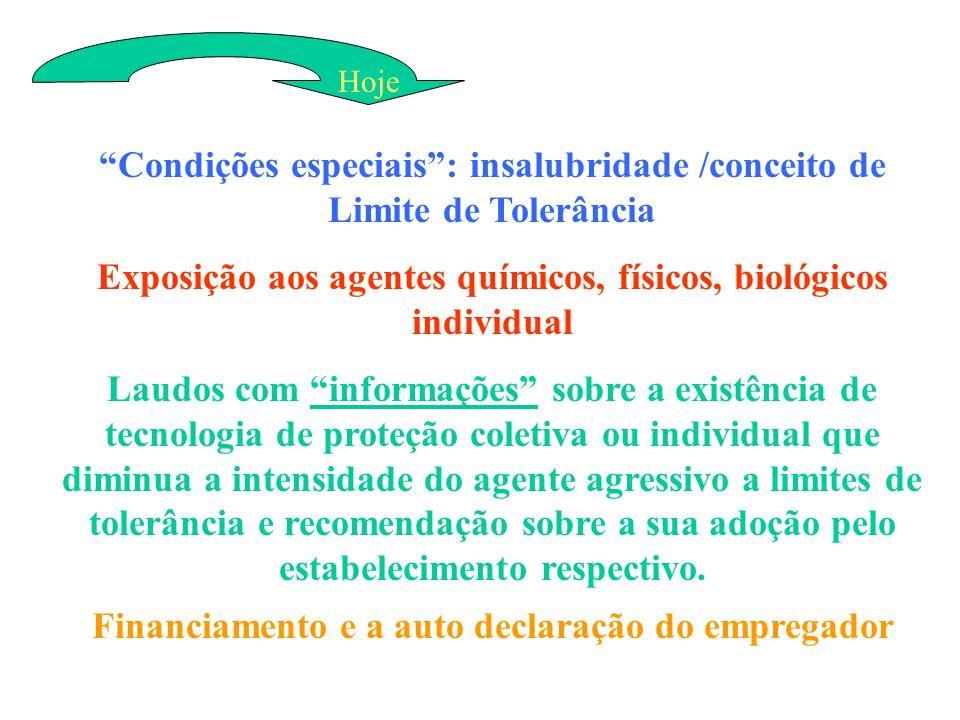 Condições especiais : insalubridade /conceito de Limite de Tolerância