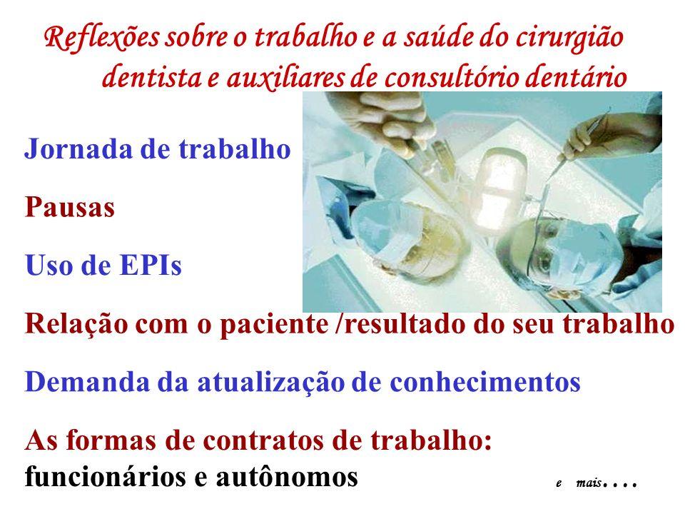 Reflexões sobre o trabalho e a saúde do cirurgião dentista e auxiliares de consultório dentário