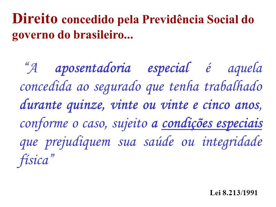 Direito concedido pela Previdência Social do governo do brasileiro...