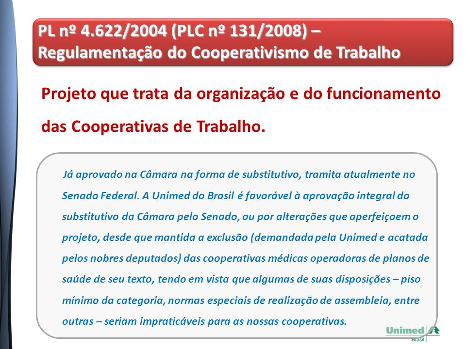 Regulamentação do Cooperativismo de Trabalho