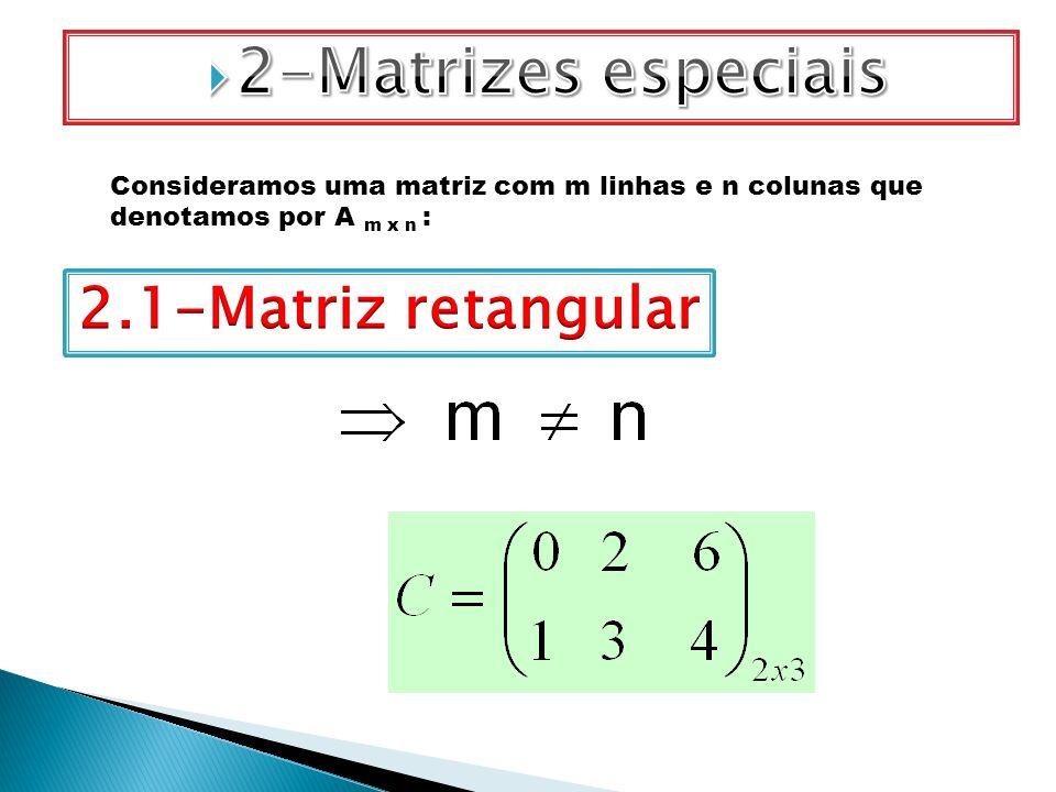 2-Matrizes especiais 2.1-Matriz retangular