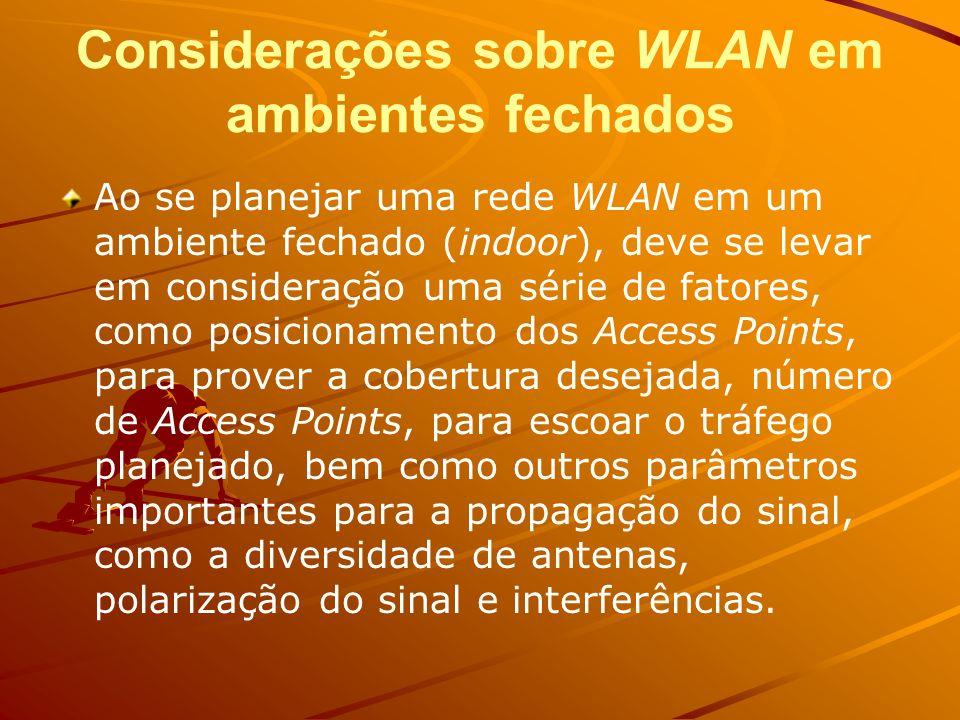 Considerações sobre WLAN em ambientes fechados
