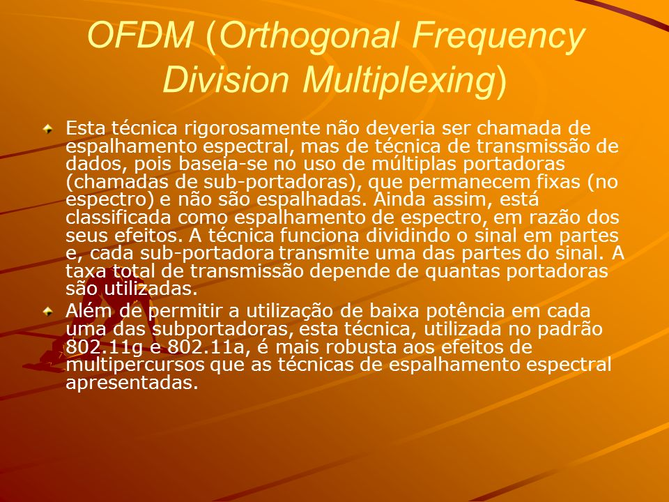 OFDM (Orthogonal Frequency Division Multiplexing)