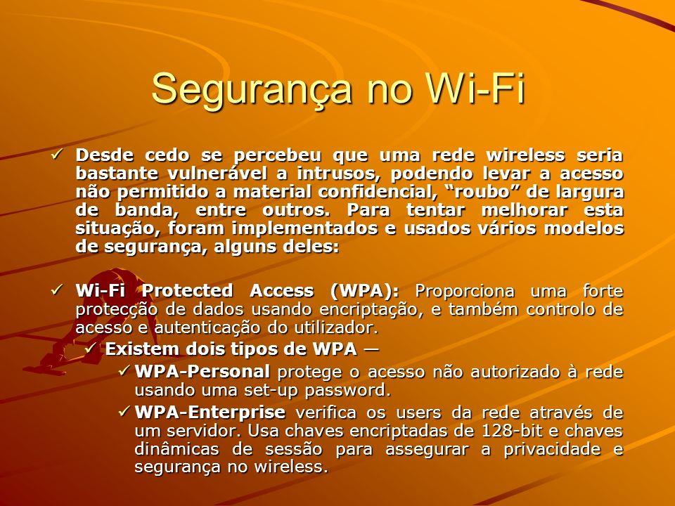 Segurança no Wi-Fi