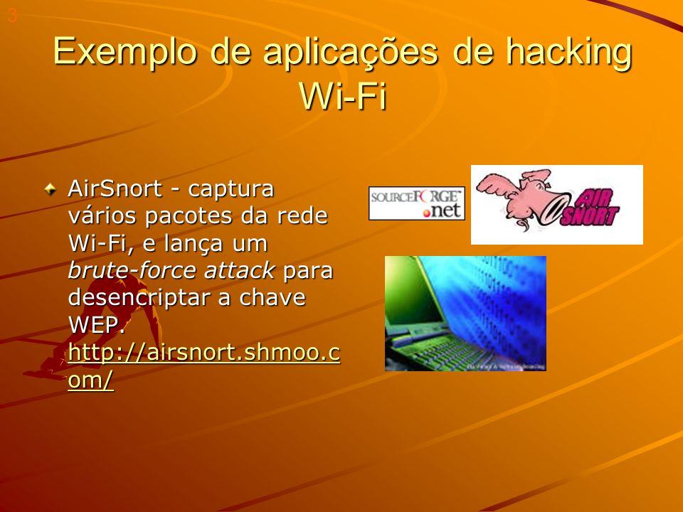 Exemplo de aplicações de hacking Wi-Fi