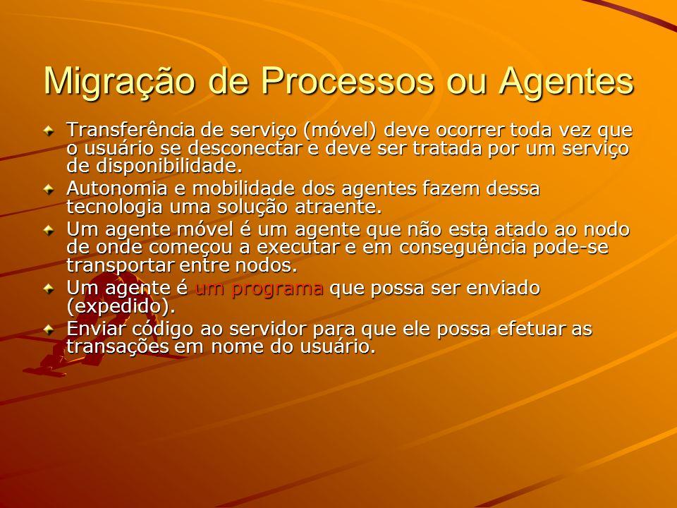 Migração de Processos ou Agentes