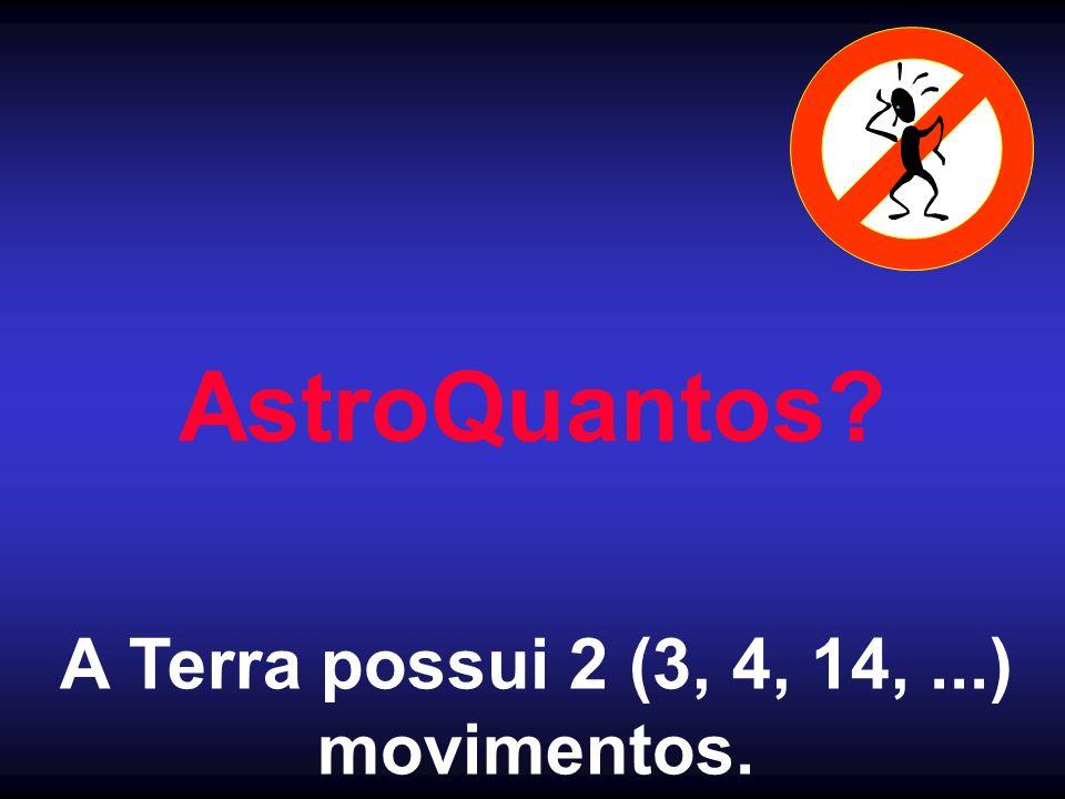 AstroQuantos A Terra possui 2 (3, 4, 14, ...) movimentos.
