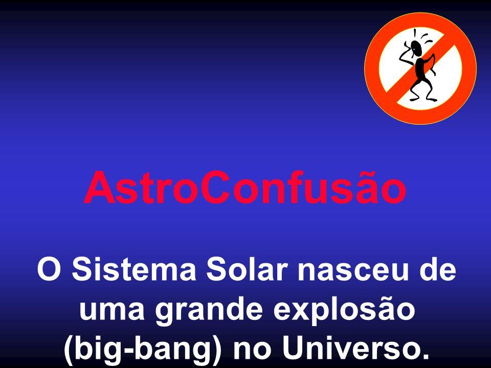 O Sistema Solar nasceu de (big-bang) no Universo.