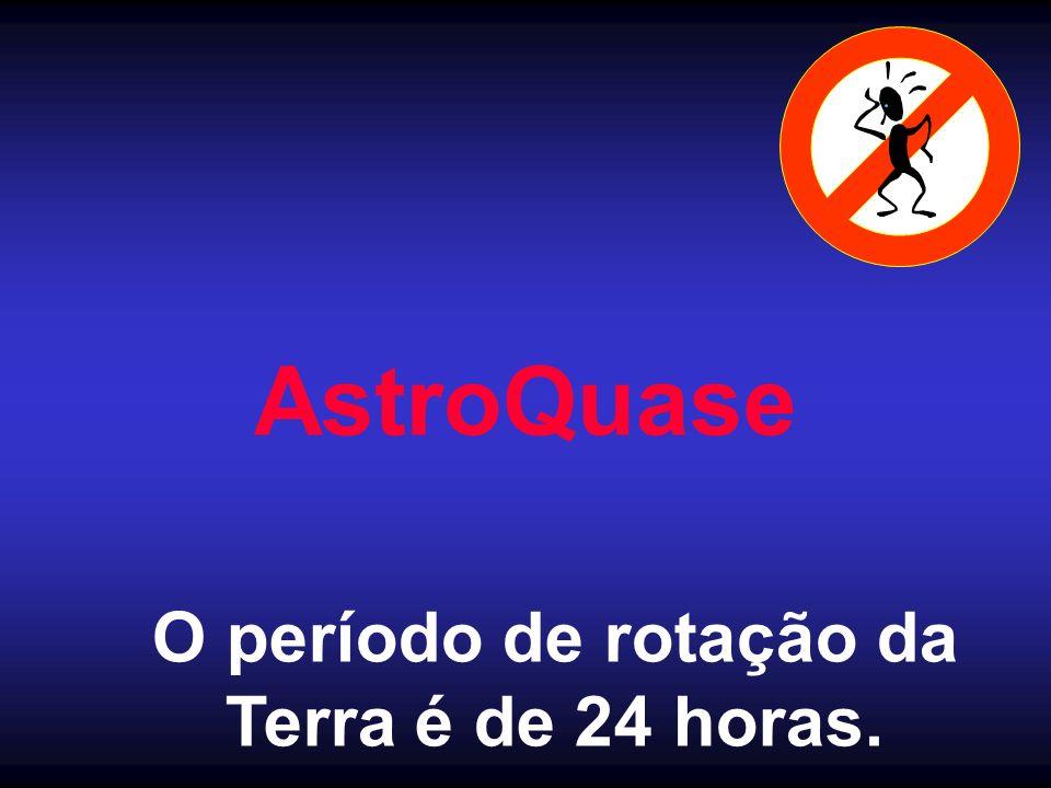 AstroQuase O período de rotação da Terra é de 24 horas.