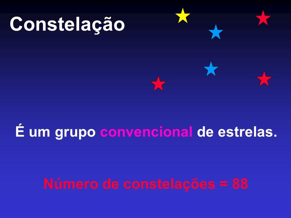 É um grupo convencional de estrelas. Número de constelações = 88