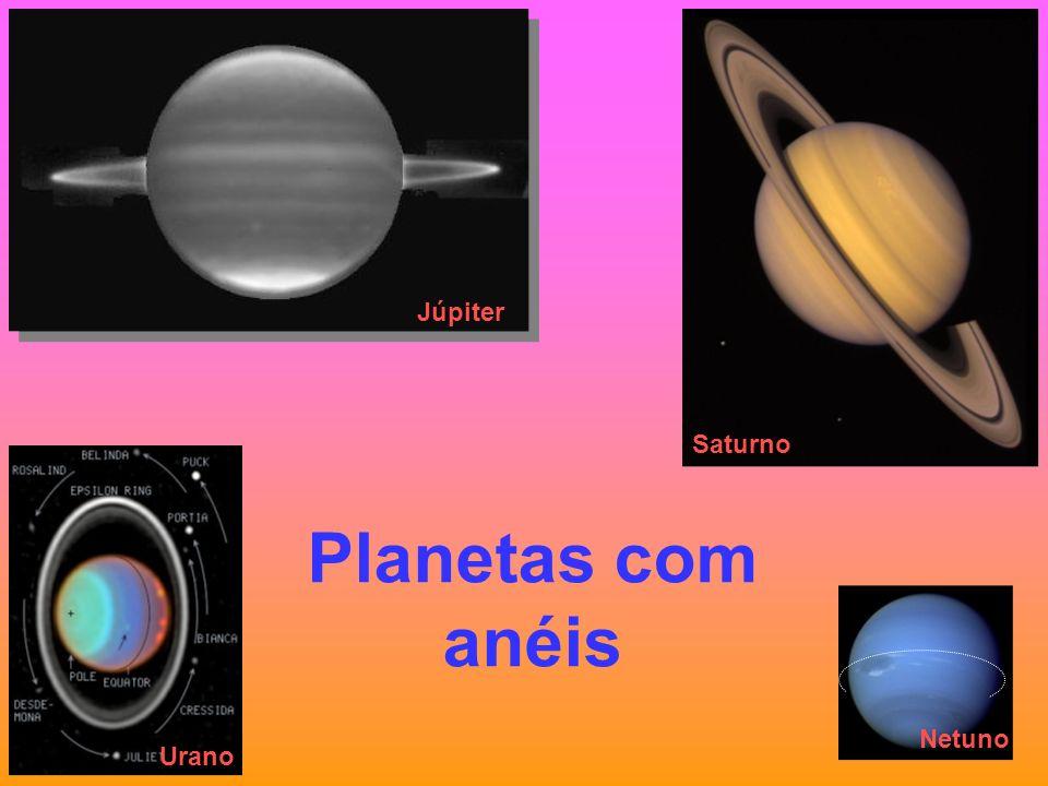 Júpiter Saturno Urano Planetas com anéis Netuno
