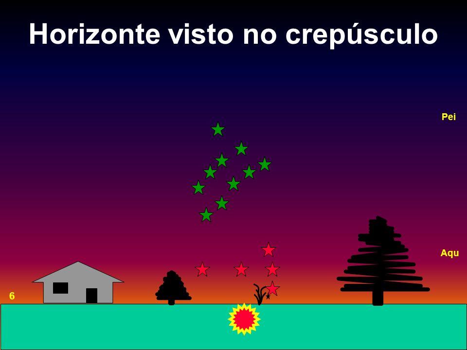 Horizonte visto no crepúsculo