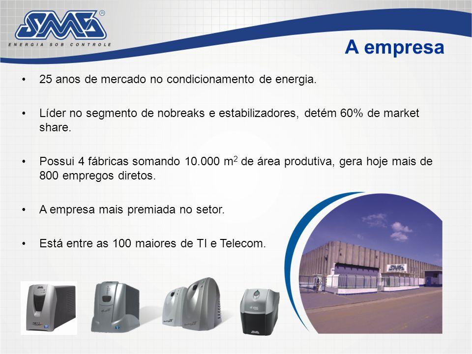 A empresa 25 anos de mercado no condicionamento de energia.