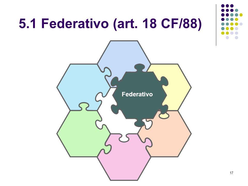 5.1 Federativo (art. 18 CF/88) Federativo