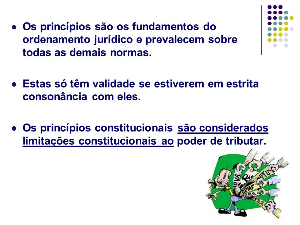 Os princípios são os fundamentos do ordenamento jurídico e prevalecem sobre todas as demais normas.