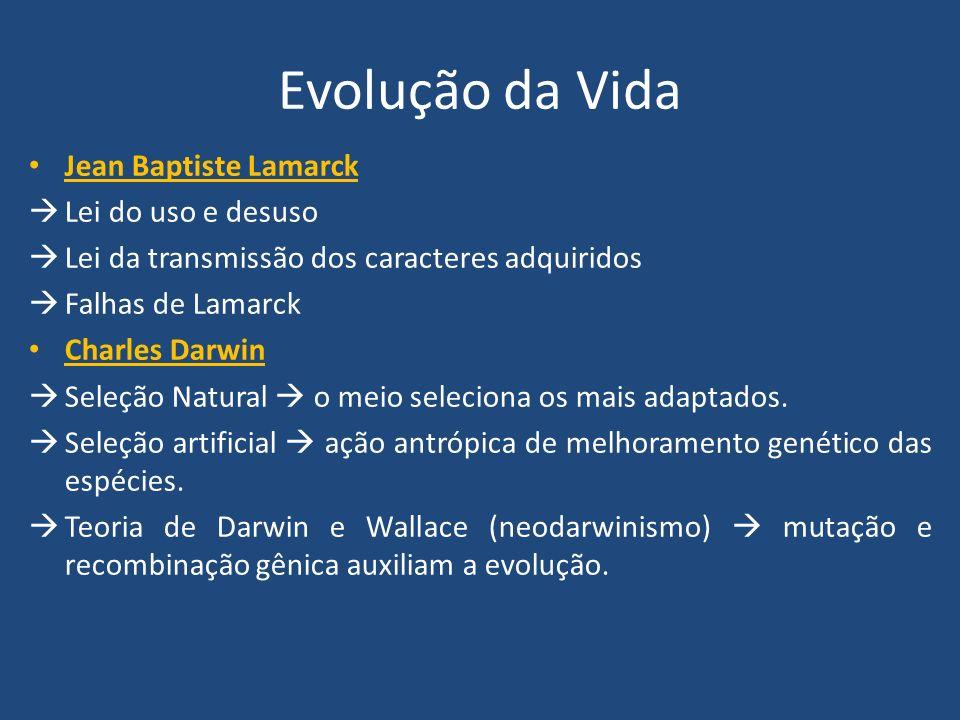 Evolução da Vida Jean Baptiste Lamarck Lei do uso e desuso