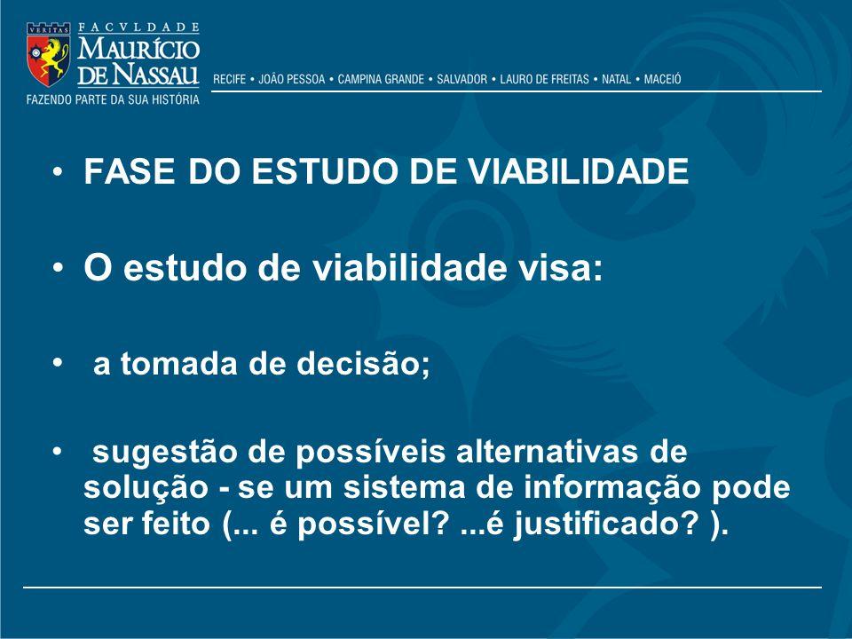 O estudo de viabilidade visa: