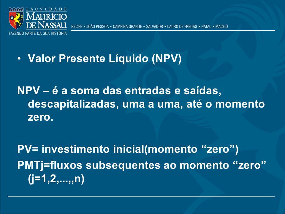 Valor Presente Líquido (NPV)