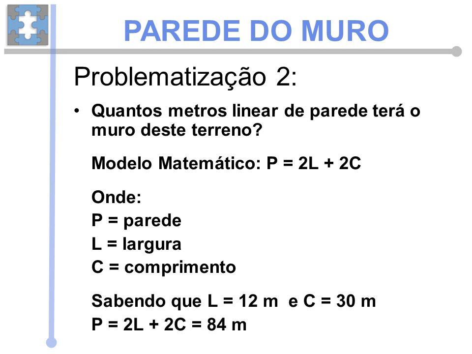 PAREDE DO MURO Problematização 2: